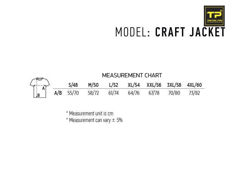 reklamni-materijal-radna-oprema-craft-jacket-velicine