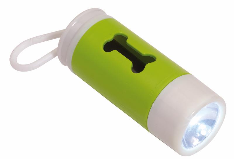 reklamni-materijal-promo-plastika-dogs-helper-led-lampa-sa-otvorom-za-kese-zelena