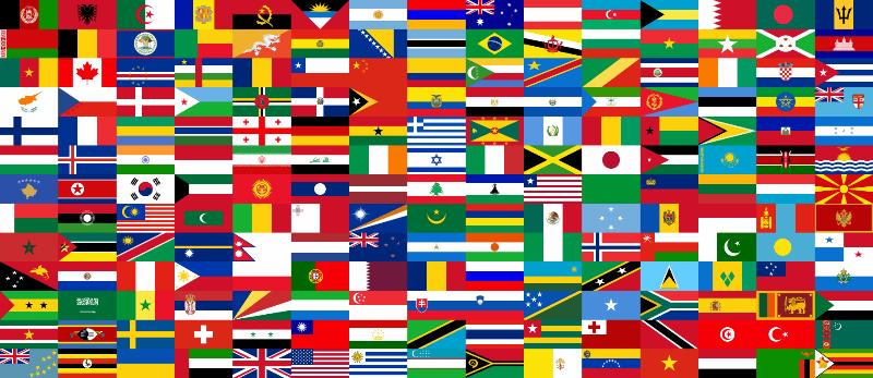 sublimaciona stampa, zastave sveta