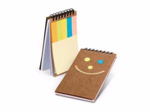 reklamni materijal-SMIL Biorazgradivi notes sa visebojnim obelezivacima