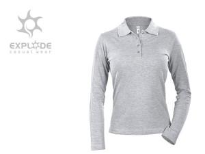 reklamni materijal-polo majice-LINDA-boja pepeljasta