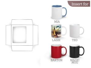 reklamni materijal - keramika i staklo - B3 - boja bela