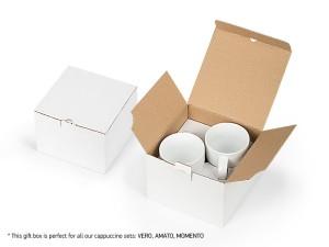 reklamni materijal - keramika i staklo - MOMENTO BOX - boja bela