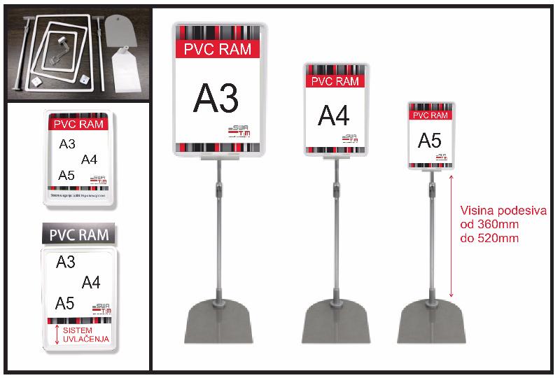 CM-Traka, PVC ramovi – Magnetni nosači