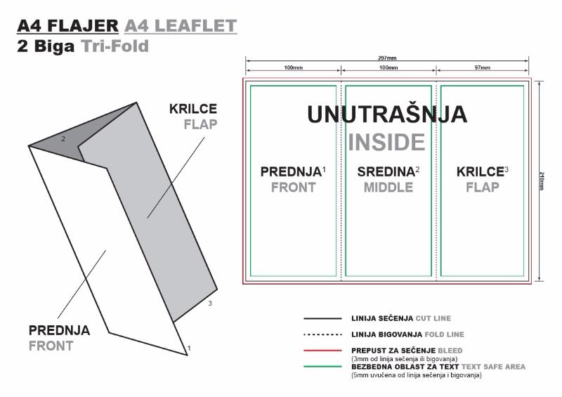 Uputstvo za savijanje flajera